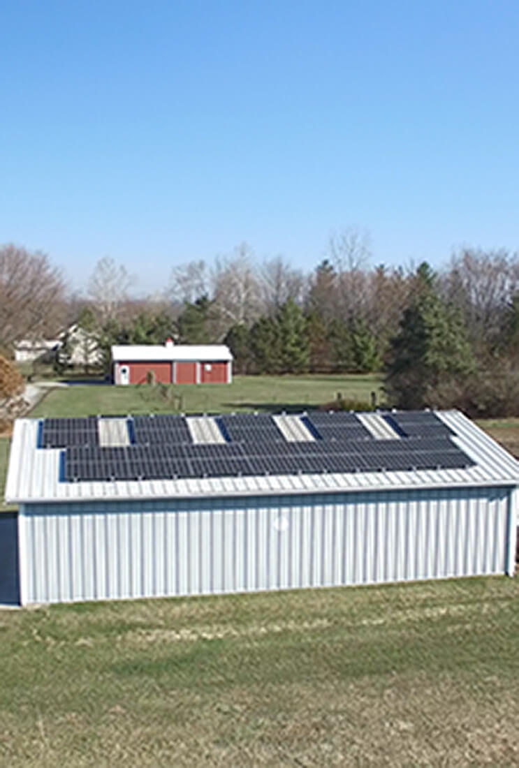 residential solar array