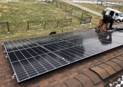 Solar Panels Installed Near Jeffersonville, Ohio