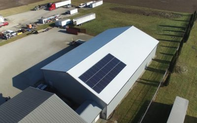 Solar Array for Rolling and Sliding Doors