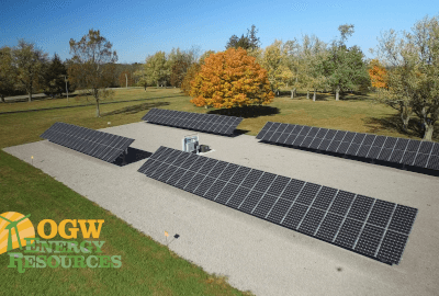 20 months into installation – solar array at Ohio Caverns.